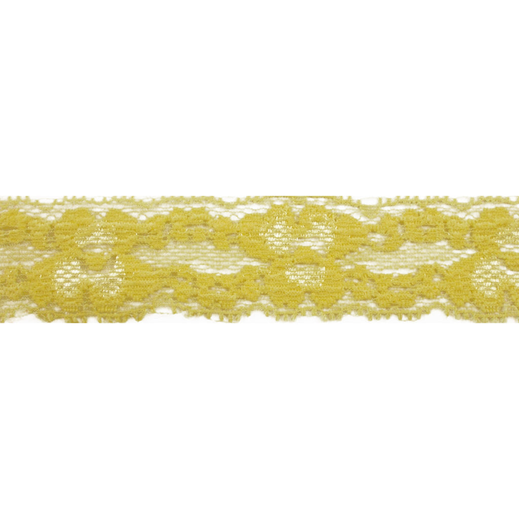 "Yellow - 1"" Stretch Lace Elastic"