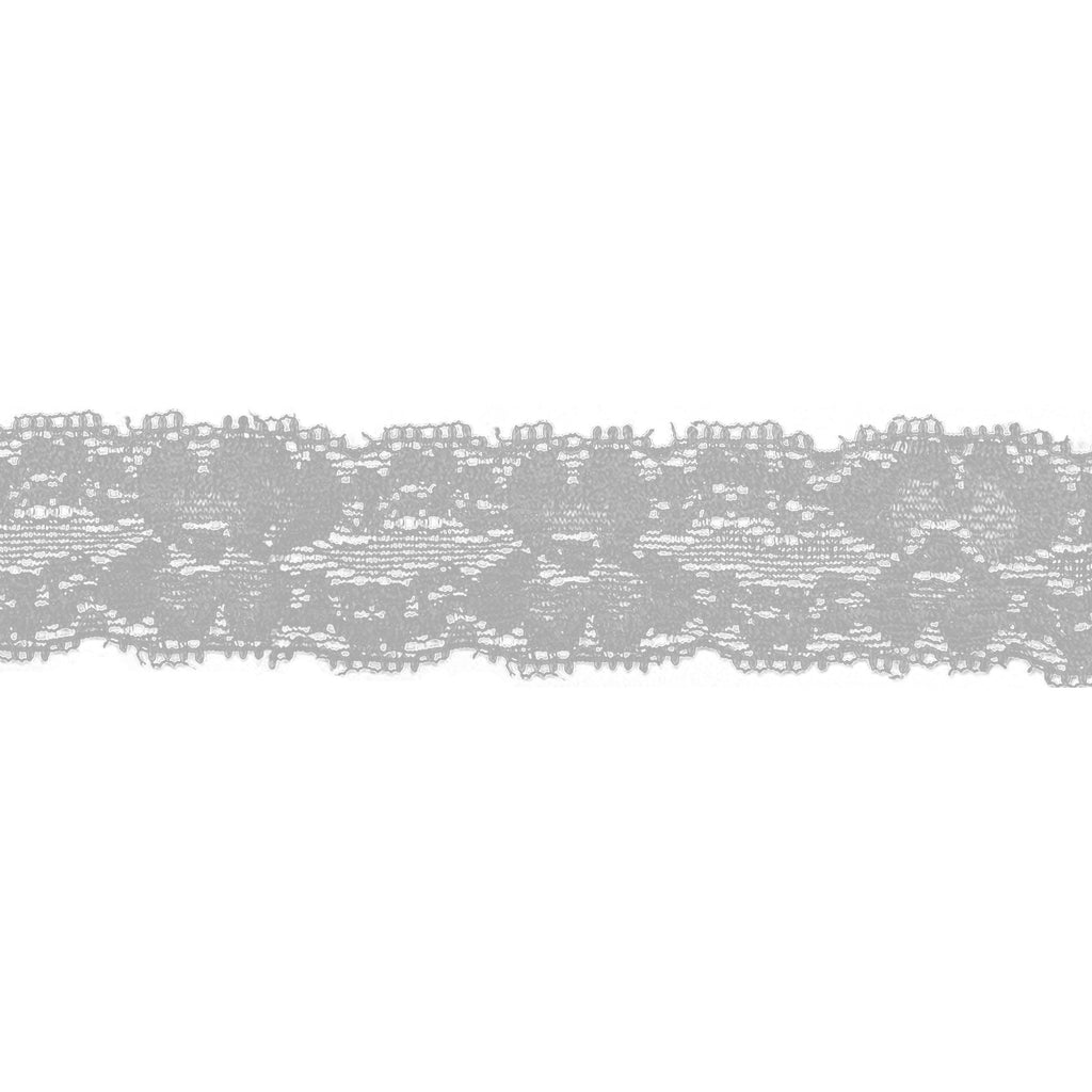 "Gray - 1"" Stretch Lace Elastic"