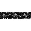 "Black - 1"" Stretch Lace Elastic"