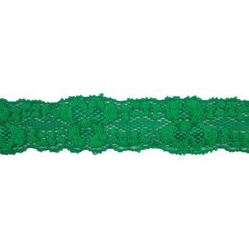 "Green - 1"" Stretch Lace Elastic"