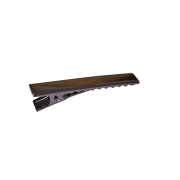 "1.75"" Charcoal Alligator Clip with Teeth"
