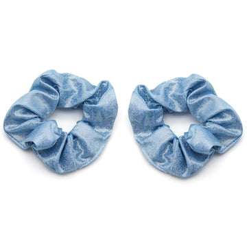 Blue Shimmer - Metallic Scrunchie