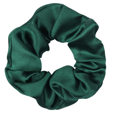 Hunter Green - Satin Scrunchie