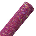 Iridescent Berry - Chunky Glitter Fabric Sheet