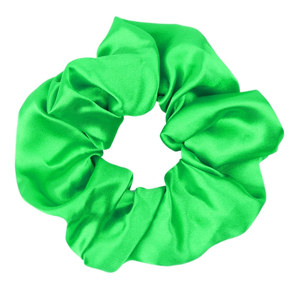 Lime Green - Satin Scrunchie