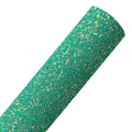 Iridescent Tropic - Chunky Glitter Fabric Sheet