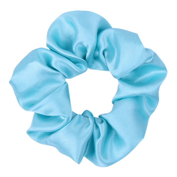 Blue - Satin Scrunchie