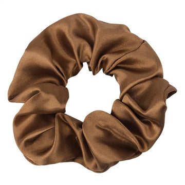 Brown - Satin Scrunchie