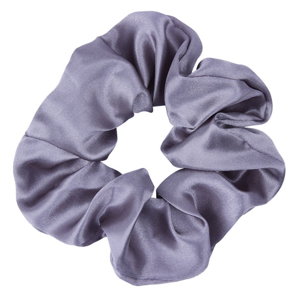Gray - Satin Scrunchie