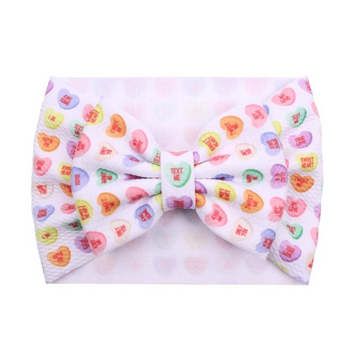 Conversation Hearts - Liverpool Bow Headwrap