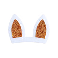 "Orange Bunny Ears - 3"" Felt + Glitter Applique"