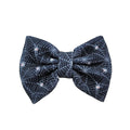 "Black Webs - 5"" Bullet Fabric Bow"