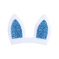 "Blue Bunny Ears - 3"" Felt + Glitter Applique"