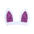 "Purple Bunny Ears - 3"" Felt + Glitter Applique"