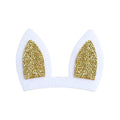 "Gold Bunny Ears - 3"" Felt + Glitter Applique"