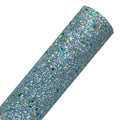 Aqua - Glow in the Dark Chunky Glitter Fabric Sheet