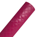 Fuchsia - Quilted Faux Leather Sheet