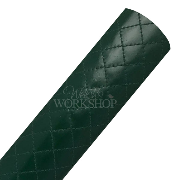 Hunter Green - Quilted Faux Leather Sheet