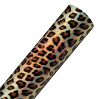 Light Gold Leopard / Cheetah - Holographic Fabric Sheet