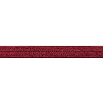 "Burgundy - 5/8"" Solid Fold Over Elastic"