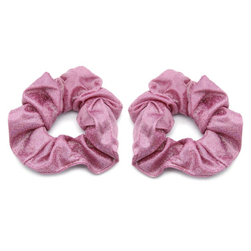 Hot Pink Shimmer - Metallic Scrunchie
