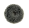 Dark Gray - Faux Bunny Fur Scrunchie