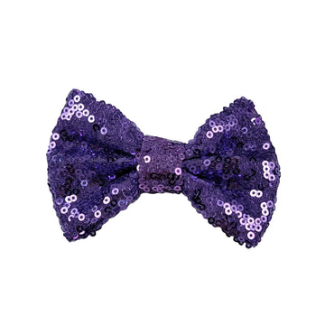 "Light Purple - 4"" Sequin Bow"
