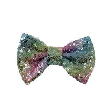 "Pastel Stripes - 4"" Sequin Bow"