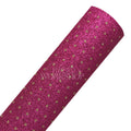 Hot Pink & Gold Dot - Fine Glitter Fabric Sheet