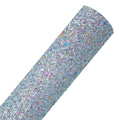Light Blue + Colored Sequins - Chunky Glitter Fabric Sheet