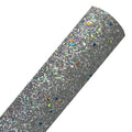 Gray - Glow in the Dark Chunky Glitter Fabric Sheet