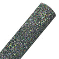 Charcoal - Glow in the Dark Chunky Glitter Fabric Sheet