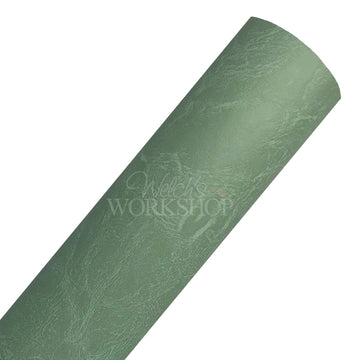 Avocado - Solid Faux Weathered Leather Sheet