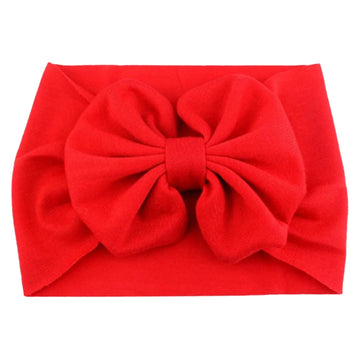 Bright Red - Jersey Knit Bow Headwrap