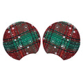 "Christmas Plaid + Snowflakes - 3.25"" Padded Mouse Ears"