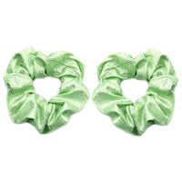 Lime Shimmer - Metallic Scrunchie