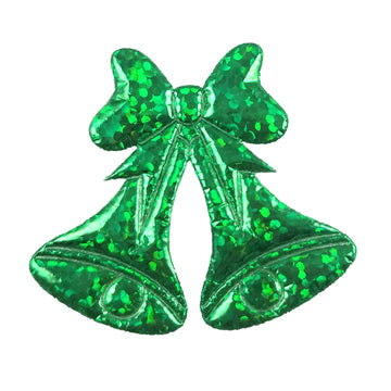 "Green Christmas Bells - 1.5"" Padded Applique"