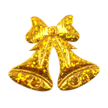 "Gold Christmas Bells - 1.5"" Padded Applique"