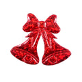 "Red Christmas Bells - 1.5"" Padded Applique"