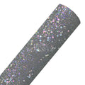 Gray - Geometric Shapes Chunky Glitter Fabric Sheet