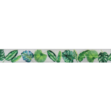 "Ferns -  5/8"" Printed Fold Over Elastic"