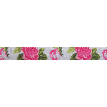 "In Full Bloom - 5/8"" Printed Fold Over Elastic"