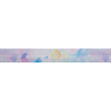 "Watercolor Floral - 5/8"" Printed Fold Over Elastic"