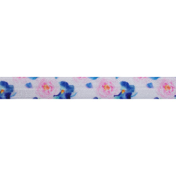 "Bloom Baby, Bloom - 5/8"" Printed Fold Over Elastic"