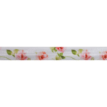 "Blush Roses - 5/8"" Printed Fold Over Elastic"