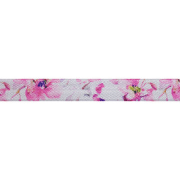 "She Loves Me - 5/8"" Printed Fold Over Elastic"