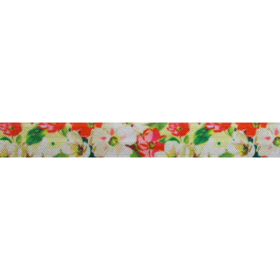 "Love Letter - 5/8"" Printed Fold Over Elastic"