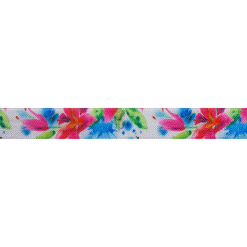 "At the Lua - 5/8"" Printed Fold Over Elastic"