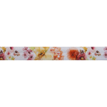 "Fall Bloom - 5/8"" Printed Fold Over Elastic"
