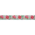 "Kissed by a Rose - 5/8"" Printed Fold Over Elastic"